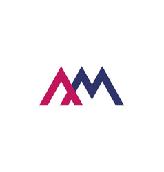 Am letters logo on white vector