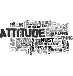 Attitudes and gratitude text word cloud concept vector