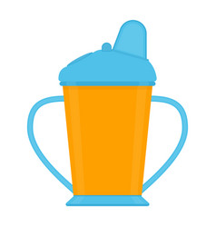 baby sippy cup isolated on white vector image