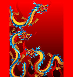 Background with chinese dragons vector