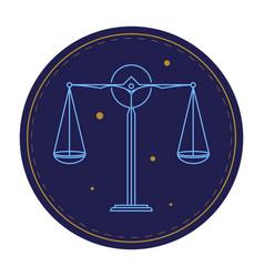 balance scale astrological sign horoscope symbol vector image