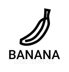 banana isolated icon vector image vector image