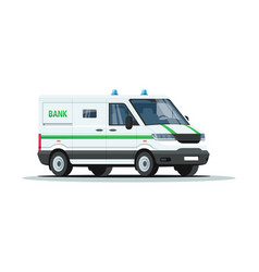Bank armored truck semi flat rgb color vector