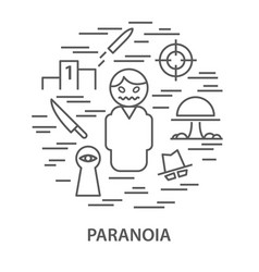 banners for paranoia vector image