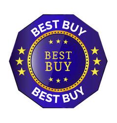 best buy badge vector image