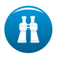 binoculars icon blue vector image