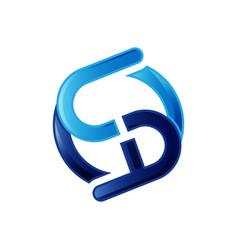 Blue initial sa letter logo design graphic concept vector