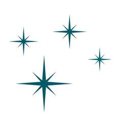 blue stars icon flat style vector image