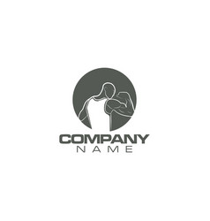 bodybuilding gym logo design vector image