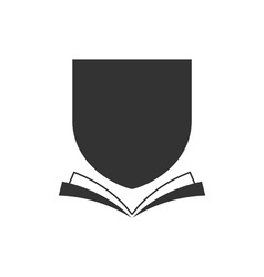 book-crest vector image