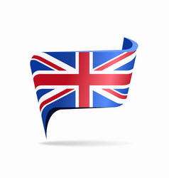 british flag map pointer layout vector image