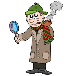cartoon detective vector image