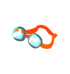 Cartoon swimming goggles with orange clasp vector
