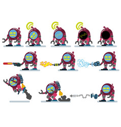 characters robot game flat icon man cartoon vector image