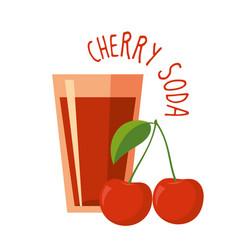 cherry soda vector image