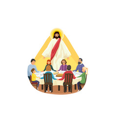 Christianity family meal religion protection vector