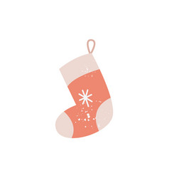 christmas sock or stocking for gift and sweets vector image