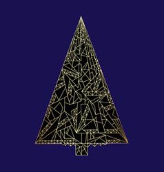 Christmas tree hand drawn new vector