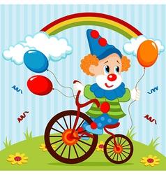 clown on bike vector image