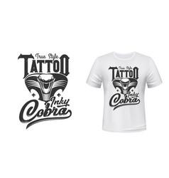 cobra t-shirt print or tattoo mascot vector image