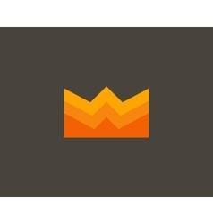 Color crown logo design Creative royal king vector