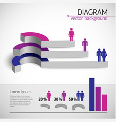 Colored diagram template vector
