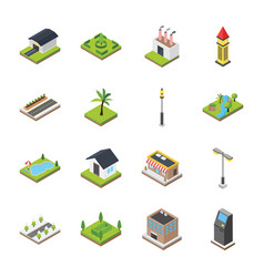 Commercial elements icons vector