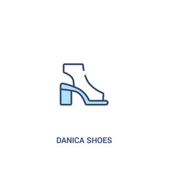 Danica shoes concept 2 colored icon simple line vector