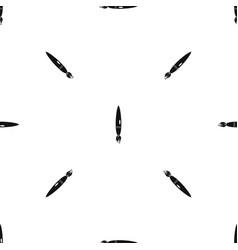 drawing brush pattern seamless black vector image