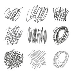 drawn tangles lines circles doodle sketch vector image