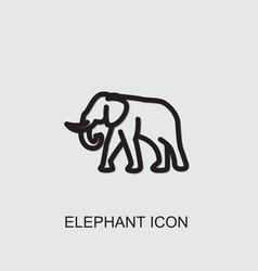 Elephant icon vector