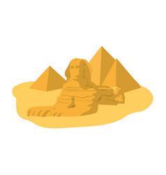 Famous giza egypt sculpture pyramids vector