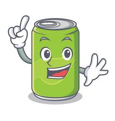 Finger soft drink character cartoon vector
