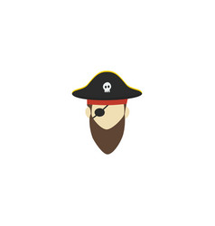 flat icon pirate element of vector image