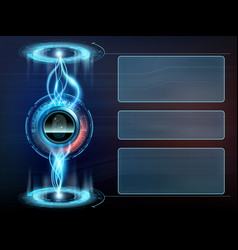 futuristic transparent screen with user interface vector image