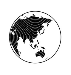 globe earth 22 vector image