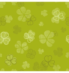 green clover textile texture seamless pattern vector image