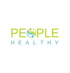 green people heakthy logo vector image