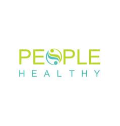 green people healthy logo vector image