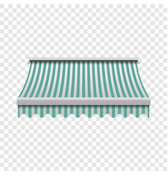 Green white awning mockup realistic style vector