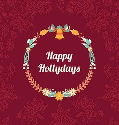 Happy Hollidays card vector