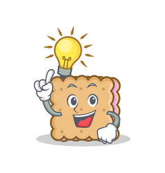 Have an idea biscuit character cartoon style vector