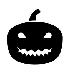horror pumpkin vector image