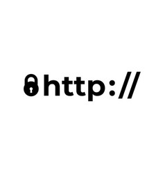 https protocol safe and secure web sites vector image