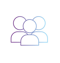 line teamwork people pictogram to social vector image