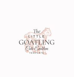 little goatling abstract sign symbol or vector image
