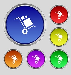 loader Icon sign Round symbol on bright colourful vector image