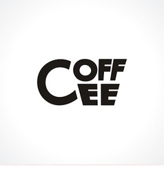 logo with cup made like text Coffee vector image