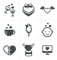 love Icons Set Design vector image