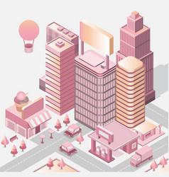 modern city landscape cityscape 3d vector image